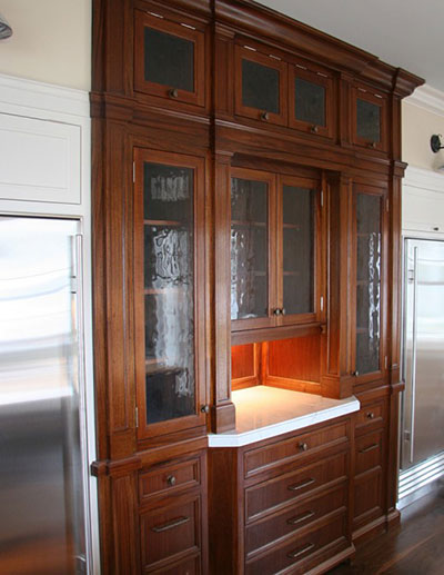 Custom built-in hutch.