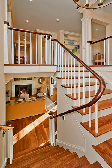 Custom Staircase And Millwork Trim.