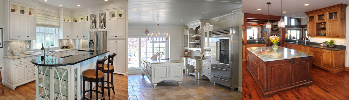 Three custom kitchens.