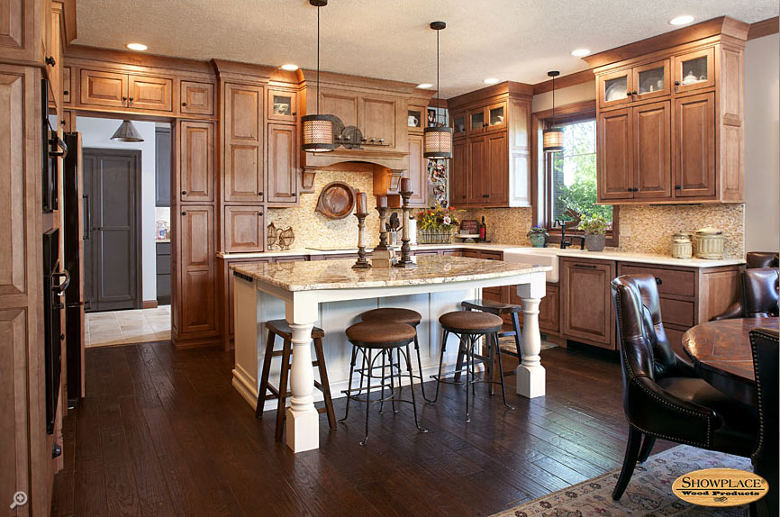 Maple inset style kitchen cabinets.