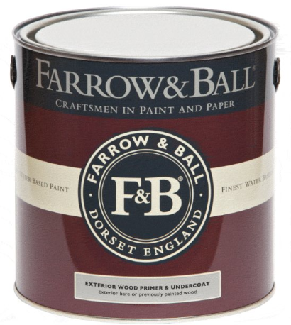Farrow & Ball Exterior Wood Primer & Undercoat sold by Toby Leary Fine Woodworking