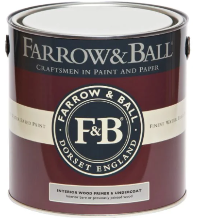 Farrow & Ball Interior Wood Primer & Undercoat sold by Toby Leary Fine Woodworking