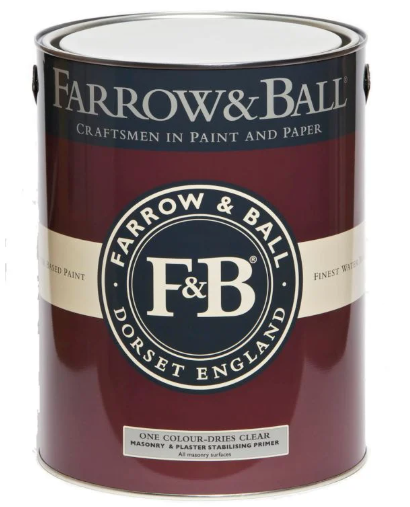 Farrow & Ball Masonry Plaster & Stabilising Primer & Undercoat sold by Toby Leary Fine Woodworking