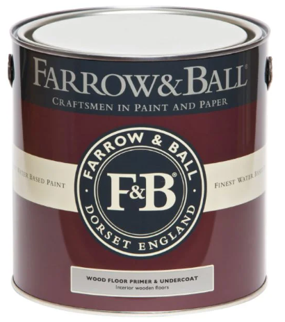 Farrow & Ball Wood Floor Primer & Undercoat sold by Toby Leary Fine Woodworking